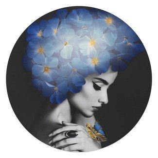 Wandbild Frau mit Schmetterlingen