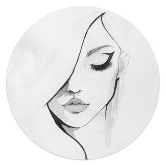 Glasbild Gesicht