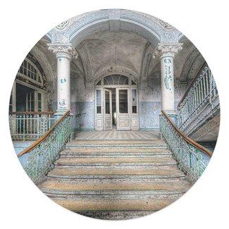 Glasbild Krankenhaus Treppe