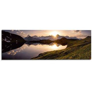 Wandbild Bergsee Sonnenuntergang