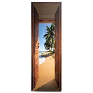 Poster Tür zum Strand