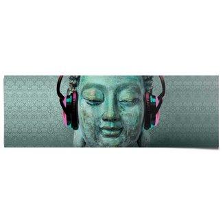 Poster Buddha Kopfhörer