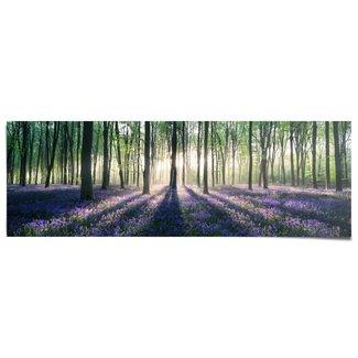 Poster Glockenblumen im Wald