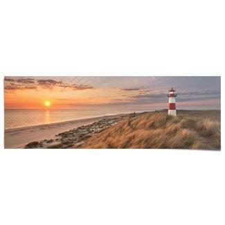 Poster Leuchtturm Sonnenuntergang