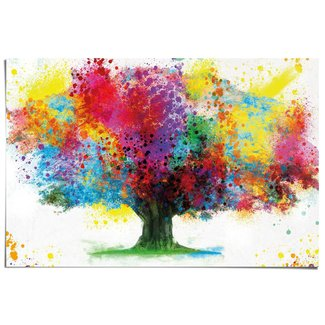 Poster Farbkleckse Baum