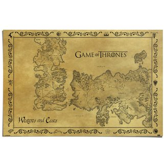 Poster Game of Thrones Karte