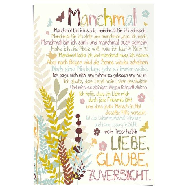 Poster Manchmal