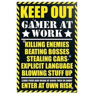 Poster Gaming Keep Out