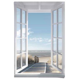 Poster Fensterblick Nordsee