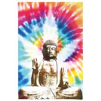 Poster Buddha raucht