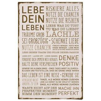 Poster Denke positiv