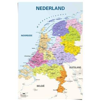 Poster Schulkarte Niederlande