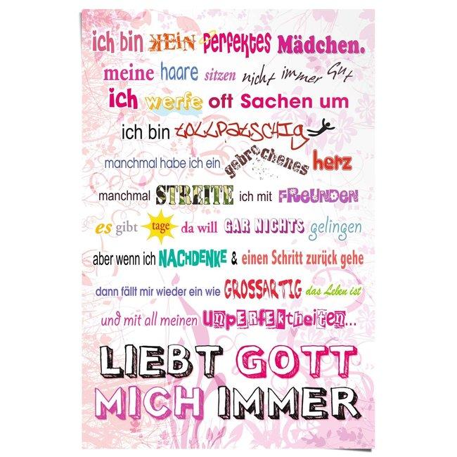 Poster Kein perfektes Mädchen