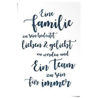 Poster Eine Familie, ein Team