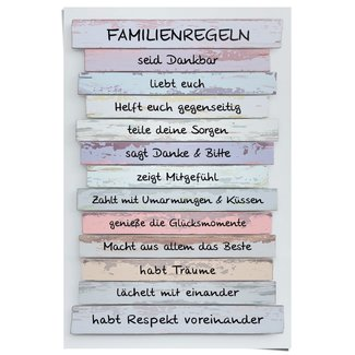 Poster Familienregeln