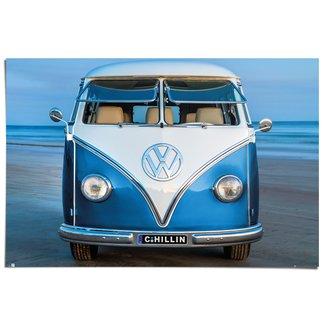 Poster Volkswagen Bulli blau