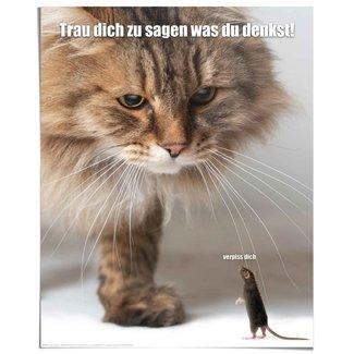 Poster Verpiss dich Katze