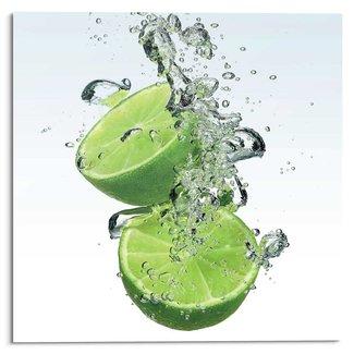 Glasbild Limone Splash