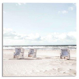 Glasbild Tag im Strandkorb