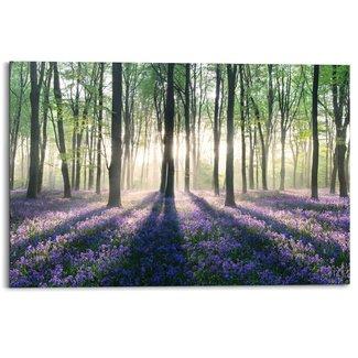 Wandbild Glockenblumen im Wald
