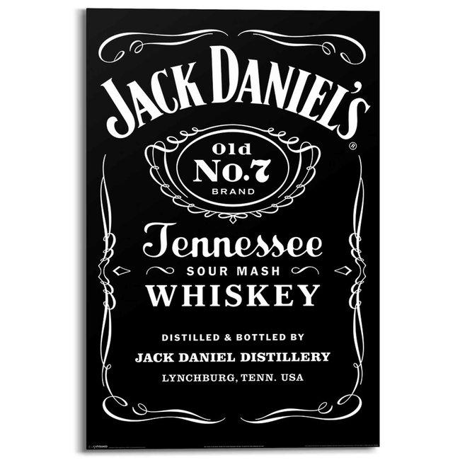 Wandbild Jack Daniel´s Label