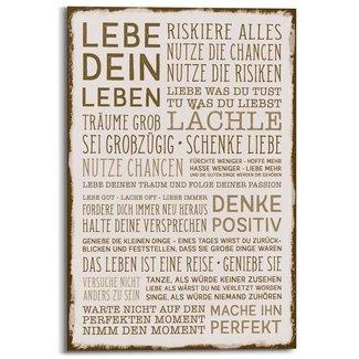 Wandbild Denke Positiv und lebe dein Leben