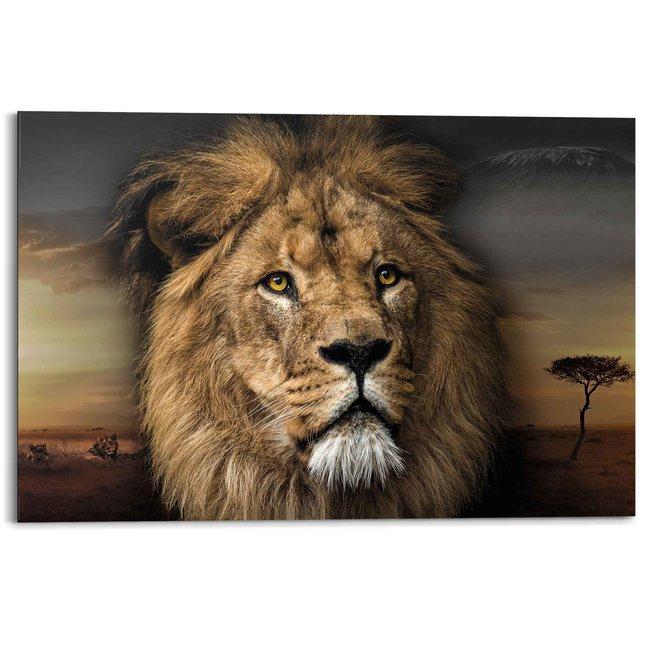 Wandbild Löwenkopf