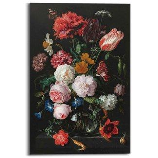 Wandbild Stillleben mit Blumenvase