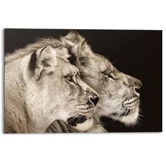 Wandbild Löwe und Löwin