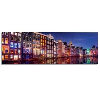 Wandbild Amsterdamer Kanal