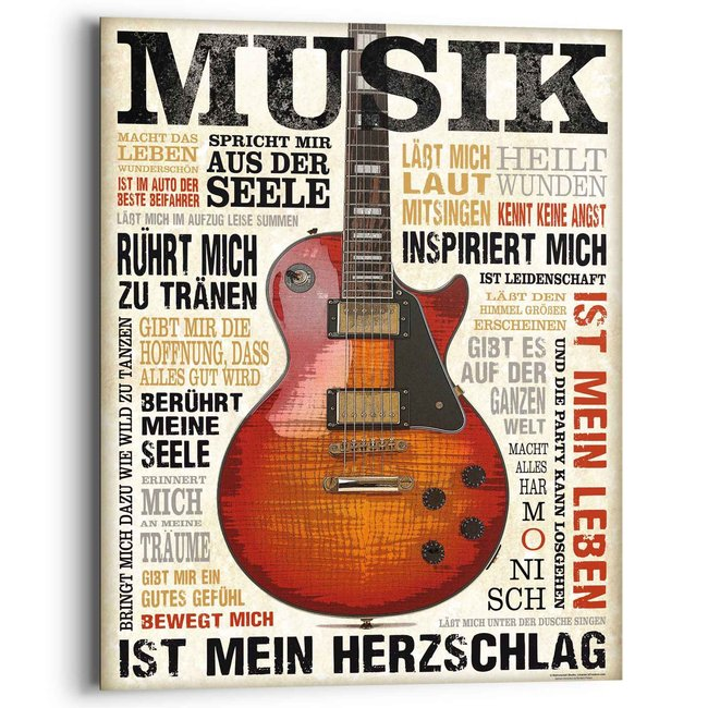 Wandbild Musik ist Leidenschaft