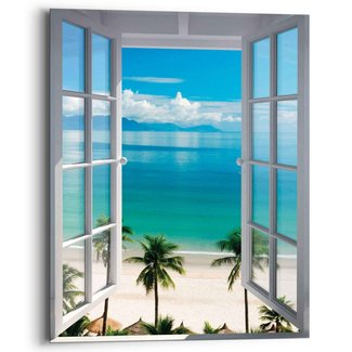 Wandbild Fenster zum Strand