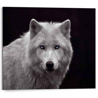 Wandbild Weißer Wolf