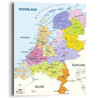 Wandbild Landkarte Niederlande