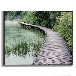 Gerahmtes Bild Steg am Ufer