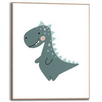 Gerahmtes Bild Kleiner Dinosaurier