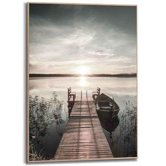 Gerahmtes Bild Steg am See
