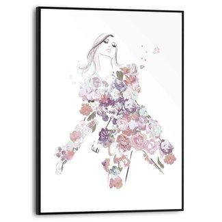 Gerahmtes Bild Blumenkleid