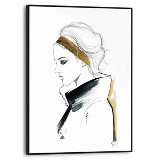 Gerahmtes Bild Silhouette einer Frau