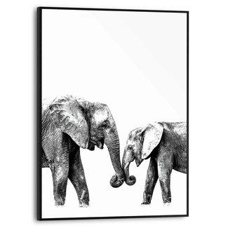 Gerahmtes Bild Elefantenliebe