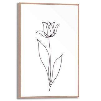 Gerahmtes Bild Tulpe