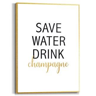 Gerahmtes Bild Drink champagne