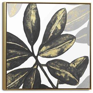 Leinwandbild Blätter aus Gold