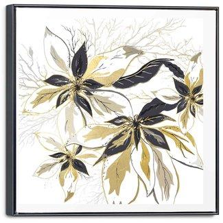 Leinwandbild Goldene Blüten