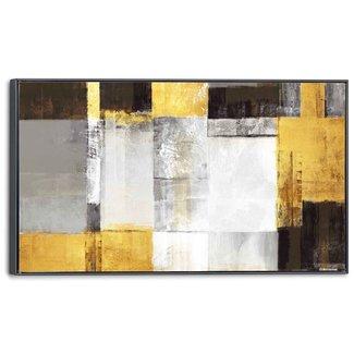 Leinwandbild Goldene Quadrate