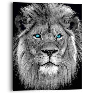 Wandbild Löwe mit blaue Augen