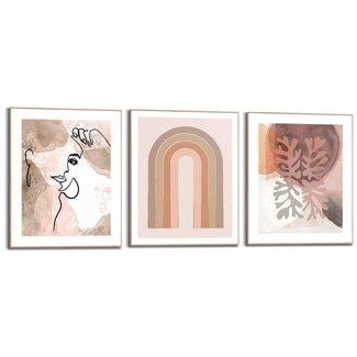 Wandbilder Set Trendy Abstrakt
