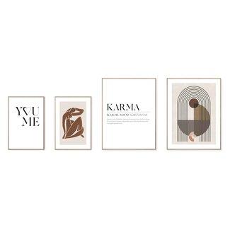 Wandbilder Set Karma