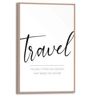 Gerahmtes Bild Reisen
