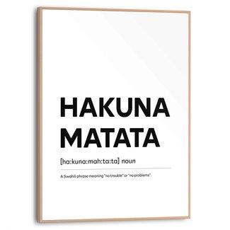 Gerahmtes Bild Hakuna Matata